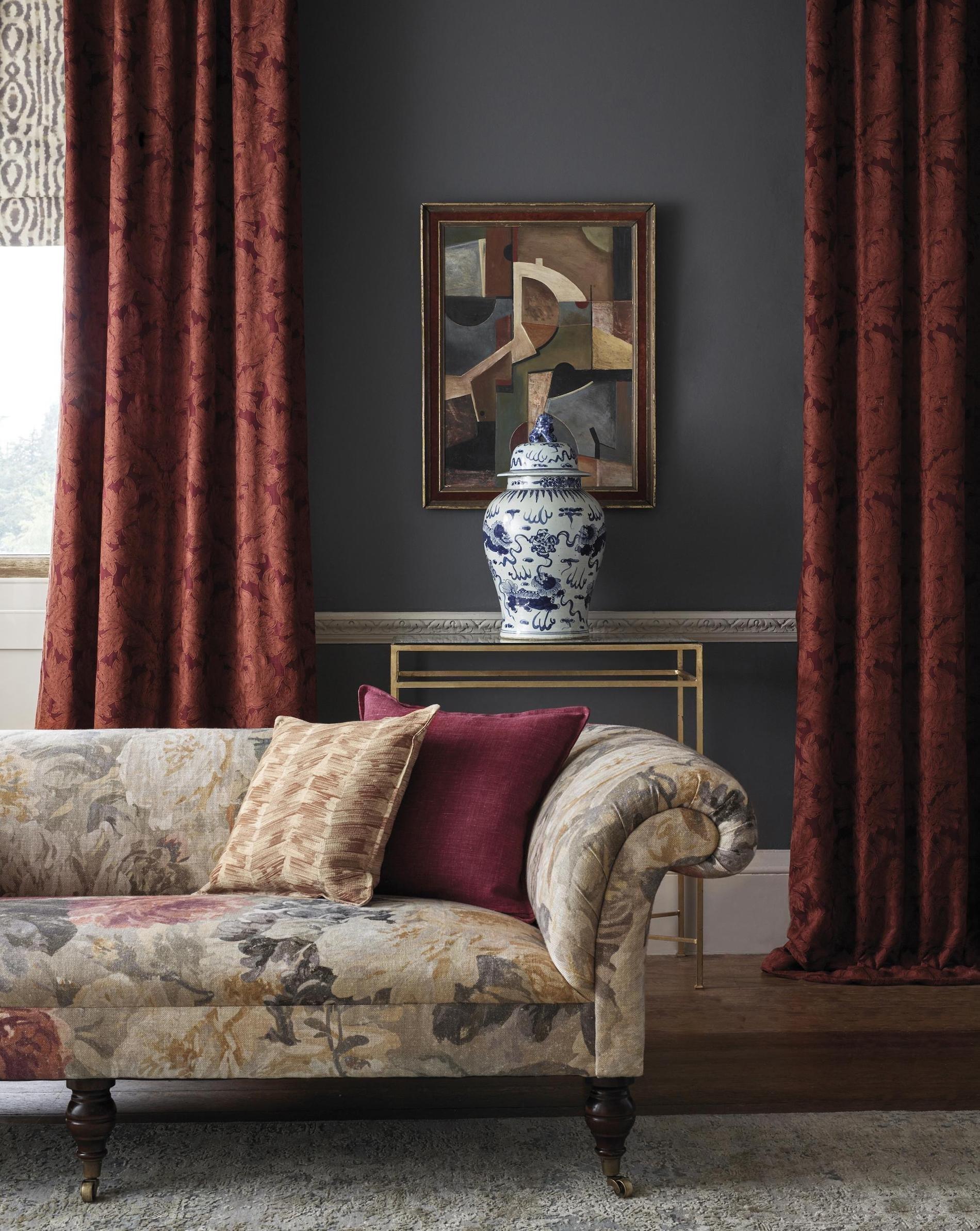 Textilie jsou z kolekce Darnely od značky Zoffany Foto: Zoffany