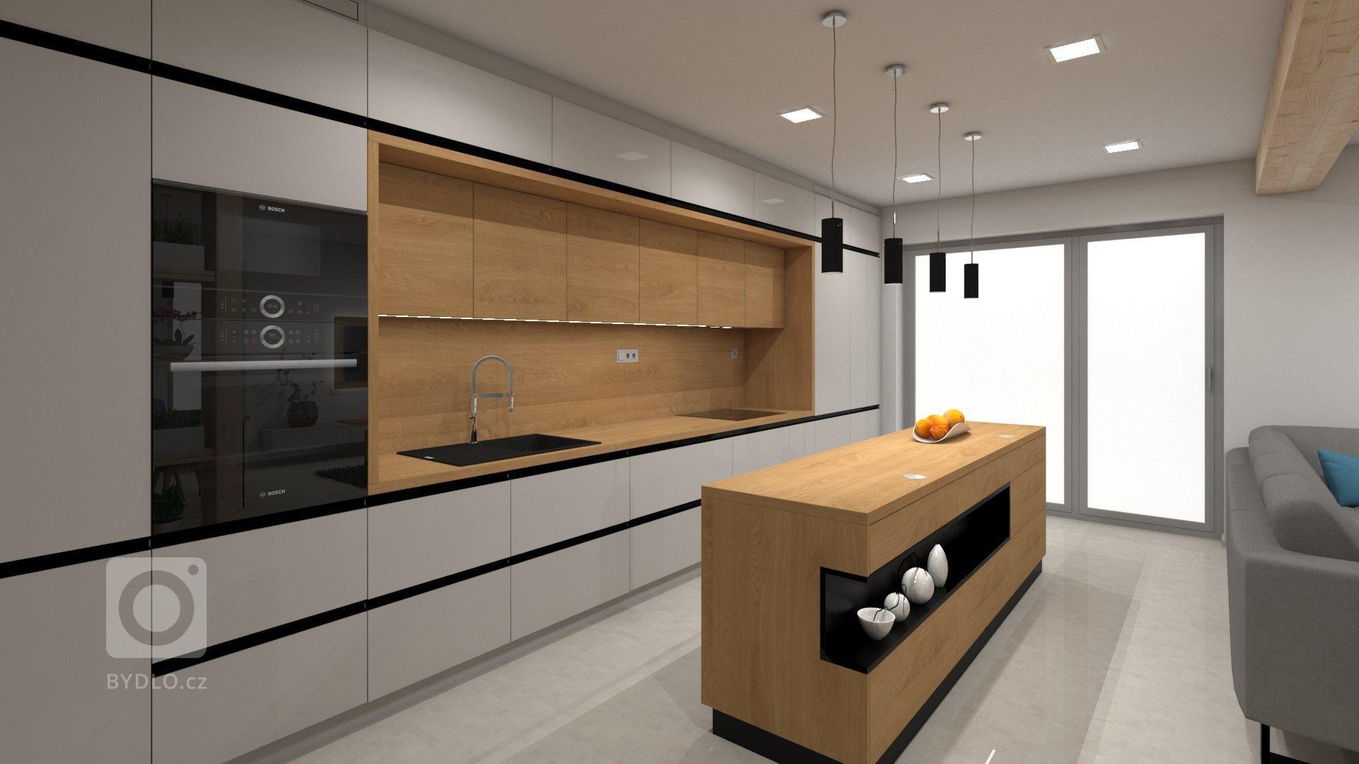 Klientovo zadání znělo, že by chtěl moderní líbivý a dobře uspořádaný interiér kuchyně s obývacím pokojem. Proto jsme zvolili světle šedou supermatnou v…