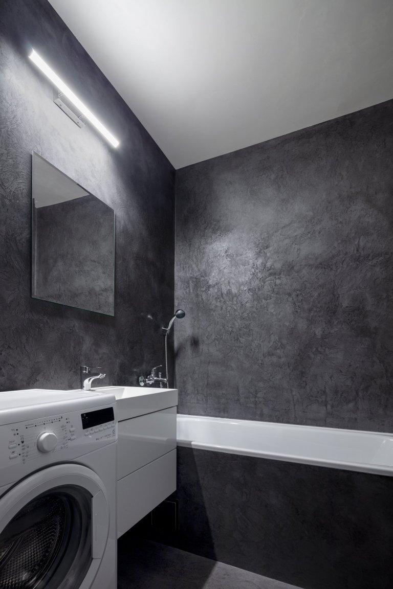 Koupelna a WC, betonová stěrka (lesk)