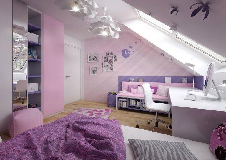 Ložnice pro malou výtvarnici