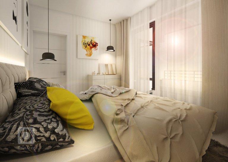 Zemité barvy, béžová, bílá, přírodní dub, champagne a antracit. To jsou barvy a odstíny,které provázejí interiér pražského bytu 3+kk. Vobývacím pokoji…