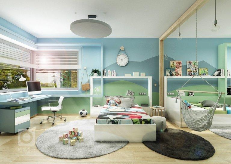 Veselý a hravý dětský pokoj