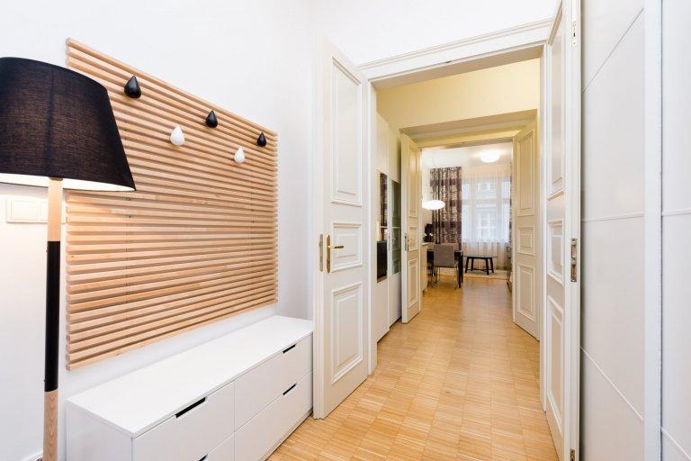 Zakázka byla realizovaná pro zahraniční klienty, kteří si byt koupili jako investici na krátkodobý pronájem. Byt v samotném centru Prahy byl původně…