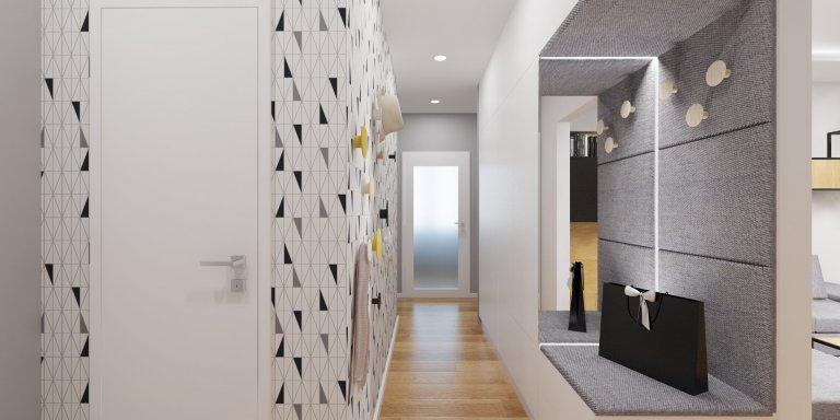 Interiér bytu v Ružinove je projekt kompletnej rekonštrukcie panelového bytu v pôvodnom stave na nový svieži interiér s mladistvým duchom.