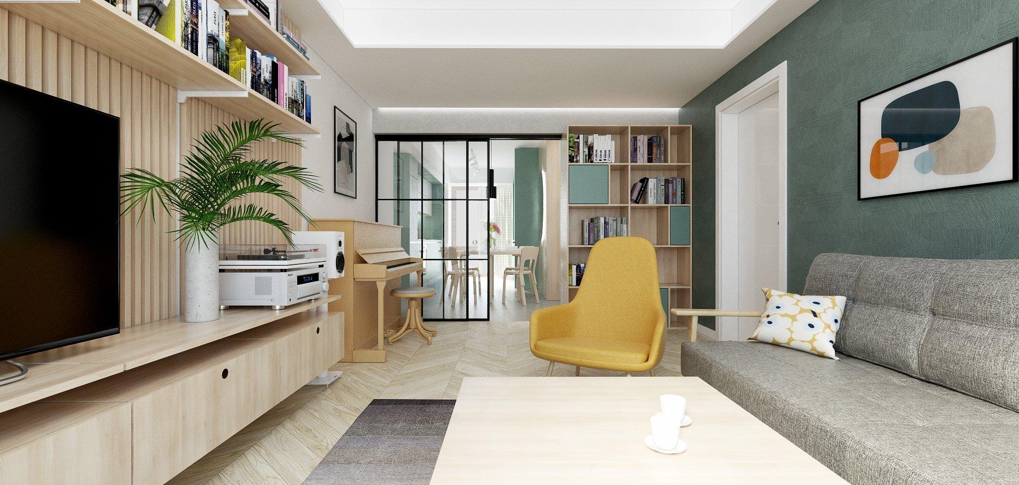 3-izbový byt v príjemnej kombinácii dreva a pastelových farieb