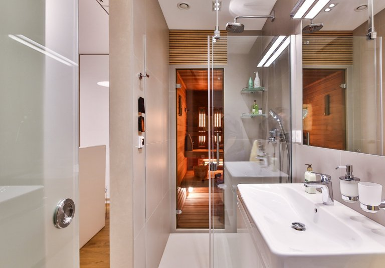 Kúpelňa so saunou