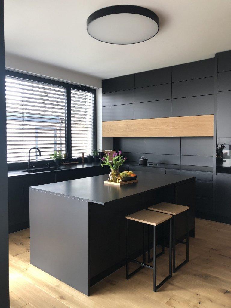 Kuchyňa Pure Evermatt Antracit / Dub