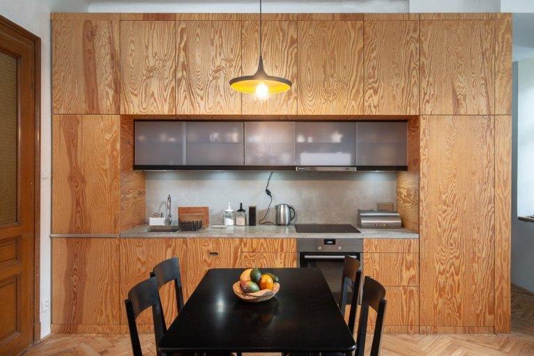 Do moderního bytu v centru Brna jsme vyráběli několik designových kovových prvků a větších konstrukcí. Vzhledem k atypickým parametrům bylo nutné navrhnout a…
