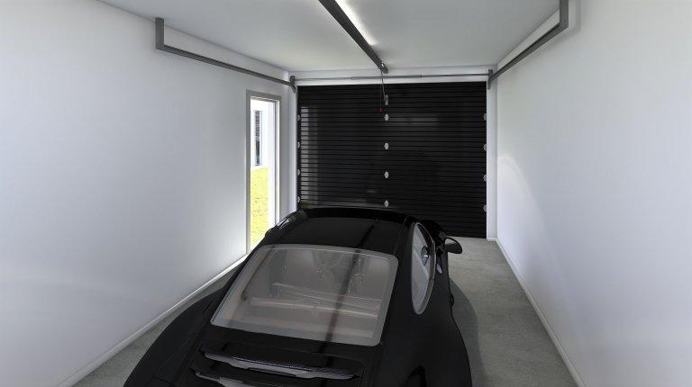 Tato modulová dřevostavba do tvaru L je vhodným řešením pro klienty, kteří požadují garáž spojenou s domem pro parkování automobilu či umístění zahradních…