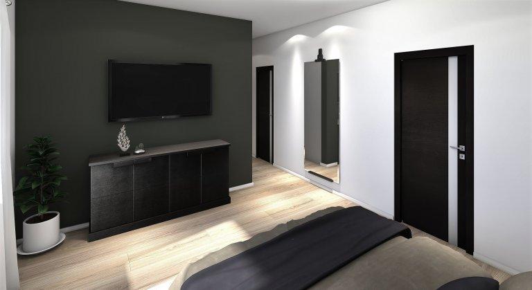 Patrová dřevostavba navržená v difuzně otevřené konstrukci. Prostorný dům je vhodný pro čtyř až pětičlennou rodinu. Vpřízemí se nachází velký obývací…