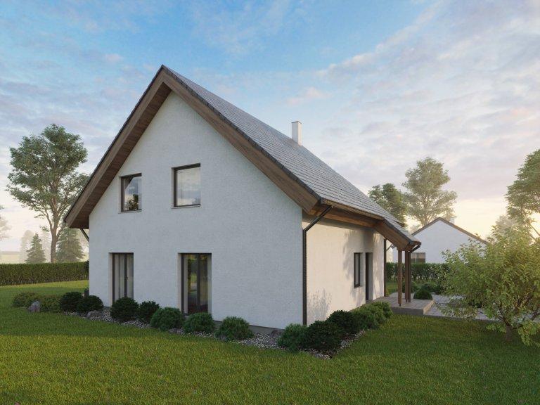 Velmi efektivně řešený dům do patra o dispozicích 5+kk. Přízemý se vyznačuje prostorným obývacím pokojem s kuchyňským koutem o velikosti 45 m2, koupelnou,…