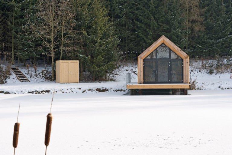 Pelhřimov chatka na rybníku