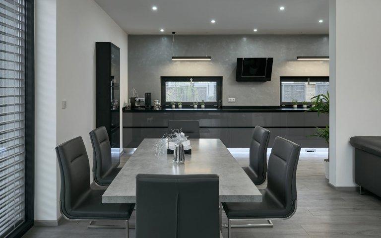 Interiér v odstínech šedé