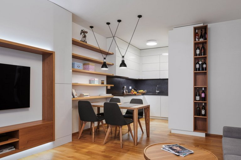 Luxusní interiér s designovými prvky
