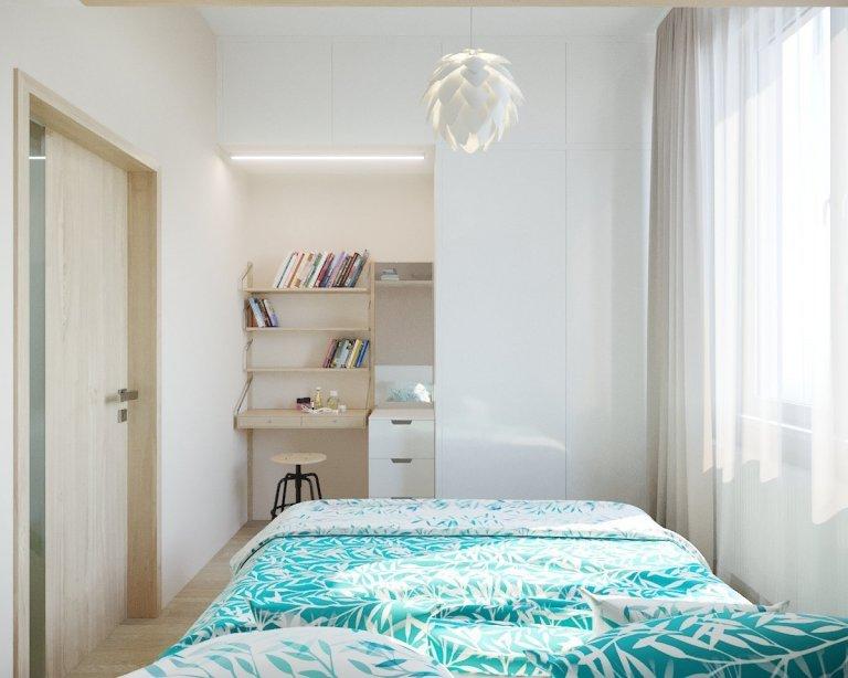 Modrá ložnice s dokonalou letní atmosférou