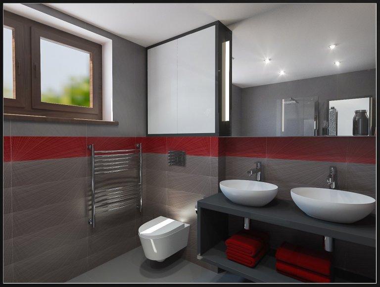 Koupelna s elegantním řešením menšího prostoru