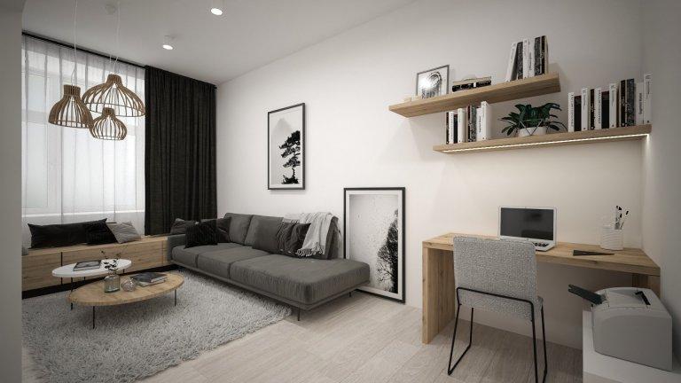 V boji s nedostatkem místa jsme se snažili důstojně a elegantně využít každý prostor bytu. A z malého prostoru jsme takto vykouzlili útulné a pohodlné bydlení.…