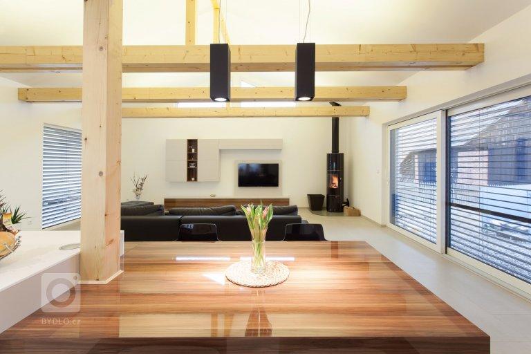 Interiér dřevostavby