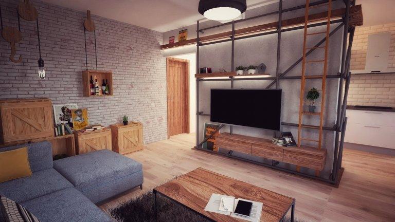 Lešenie ako súčasť interiéru
