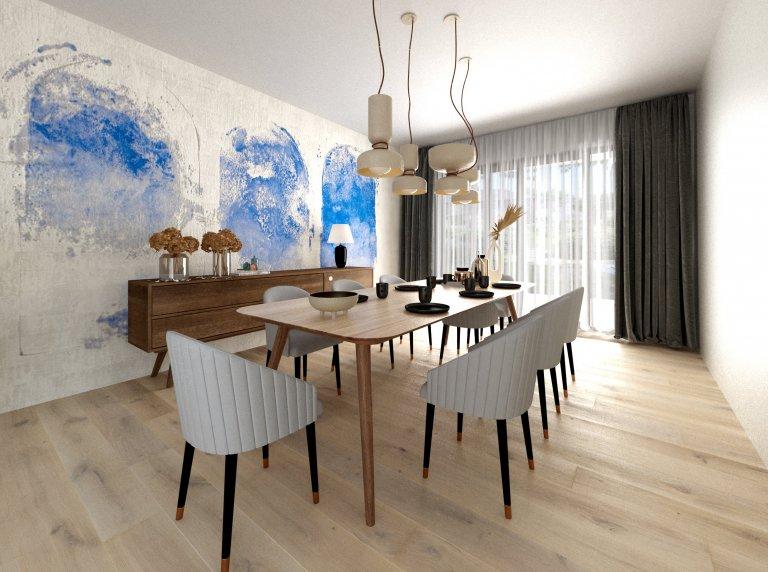 Jedná se o rekonstrukci bytu z padesátých let, jehož majitelé jsou příznivci klasičtějšího stylu a přírodních materiálů. Jinak se fantazii v návrhu meze…
