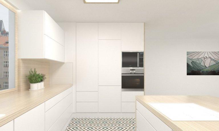 Kuchyně s geometrickým řádem