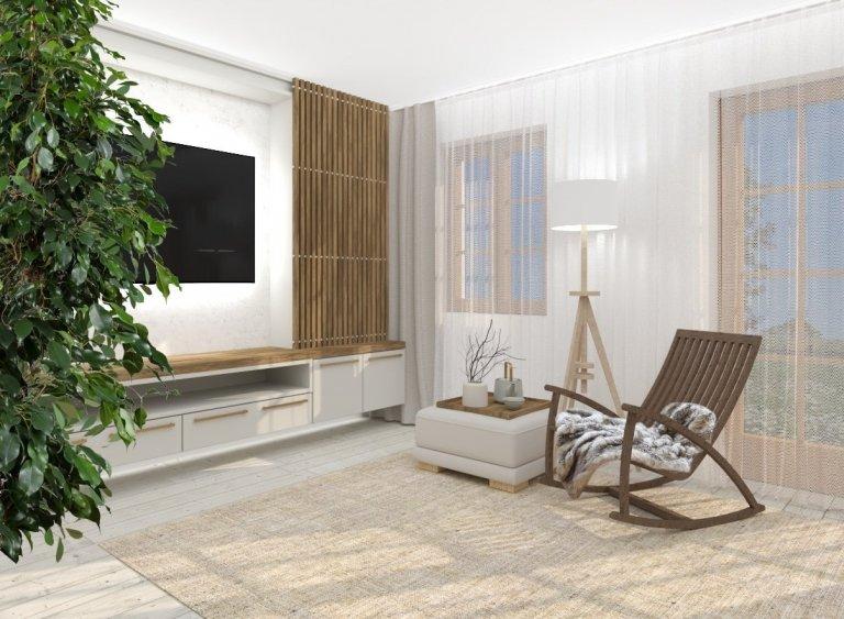 Zadání majitelů pro rekonstrukci tohoto obývacího pokoje ve starším rodinném domě nebylo vůbec jednoduché. Konzervativně zařízený obývací pokoj chtěli nechat…