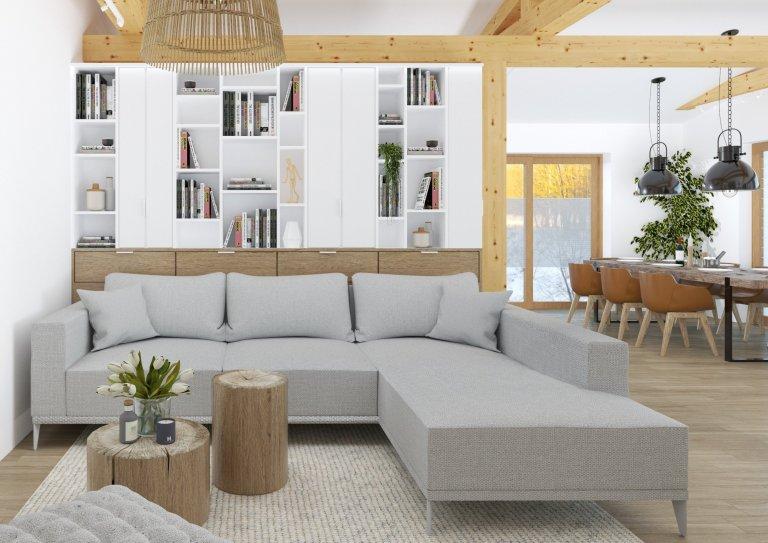 Majitele atypicky řešeného nadstandardního rodinného domu roky trápila nezabydlenost hlavní obytné místnosti, tedy obývacího pokoje spojeného skuchyní a…