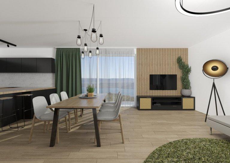 Odvážný obývací pokoj s trávou
