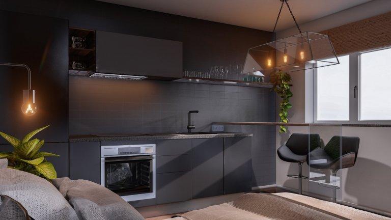 Návrh interiéru bytu na krátkodobý pronájem