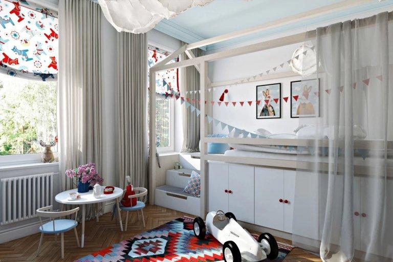Dětský pokoj ve stylu vysněného města