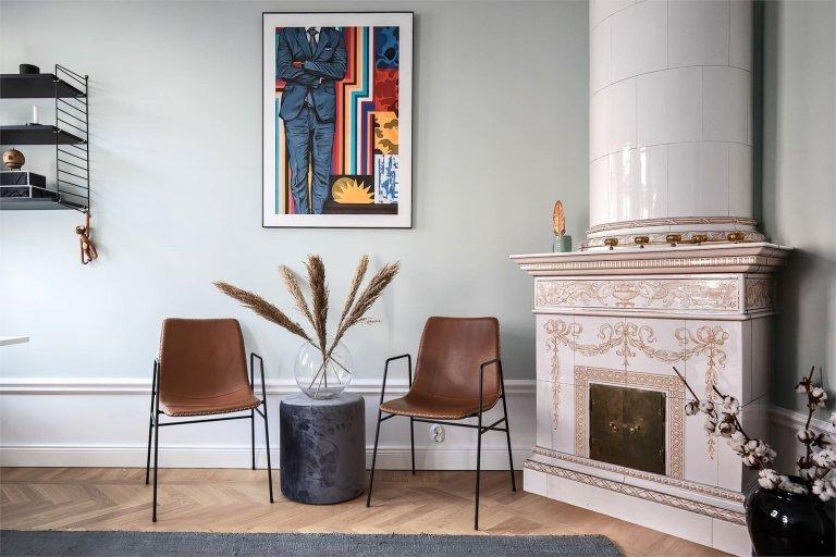 Elegantní byt v šedých odstínech ve Stockholmu