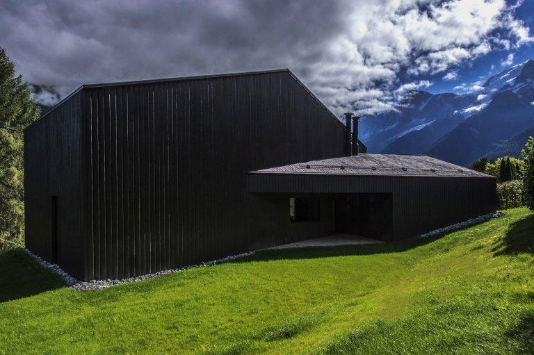 Horská chata v Chamonix s výhledem na Mont Blanc