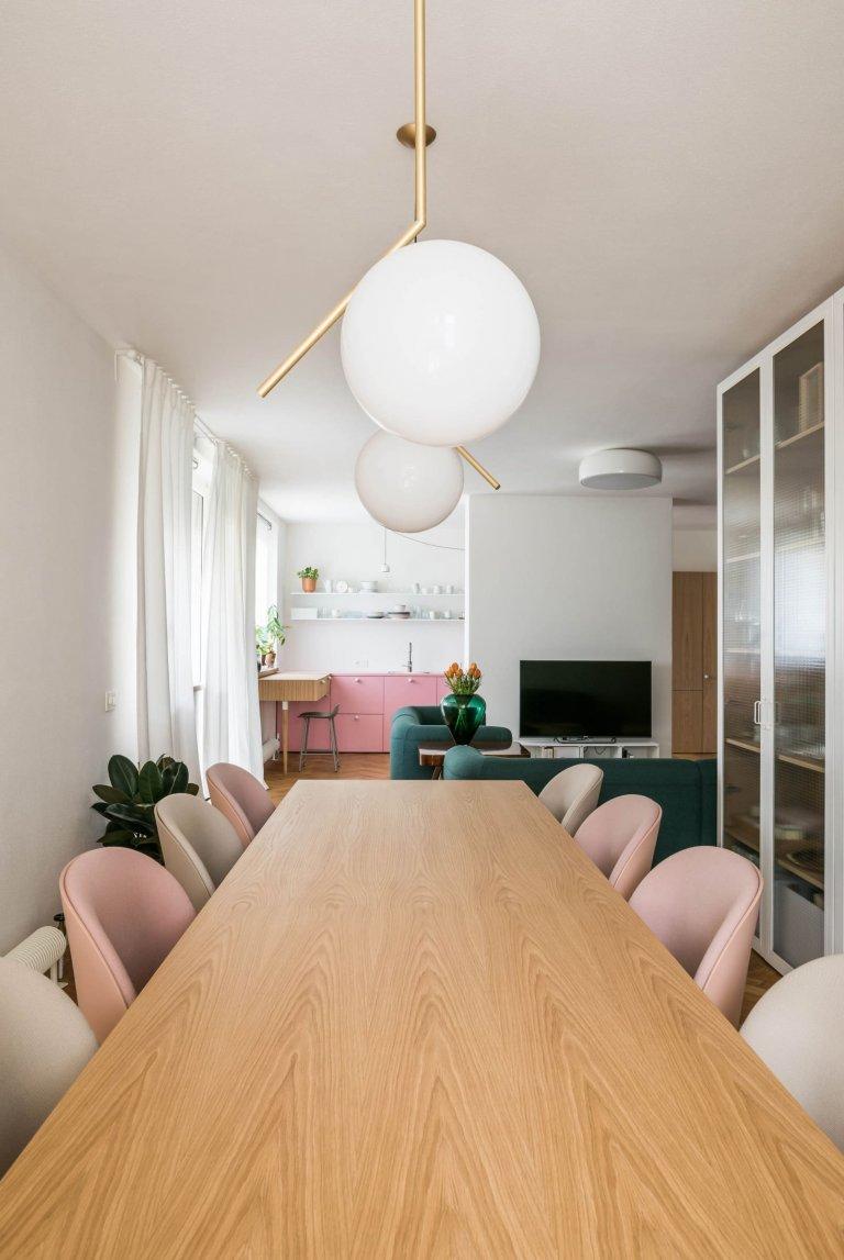 Komfortní byt v pastelových barvách