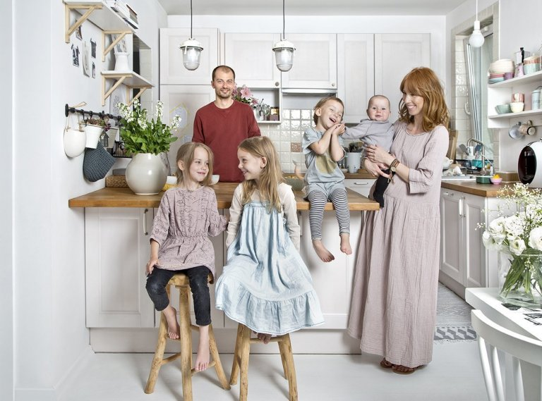 Malý, ale krásný byt pro šestičlennou rodinu