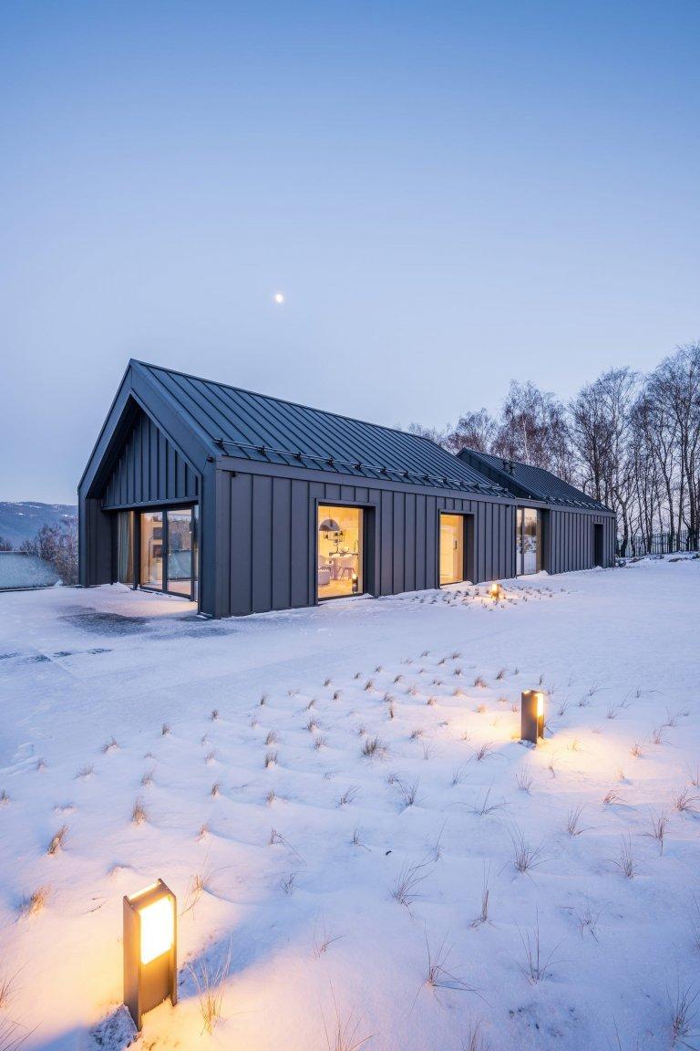 Moderní dům v horách