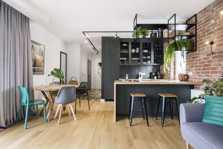 Nápaditý byt ve stylu loftu