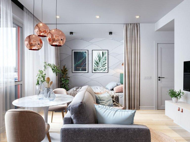 Pastelové barvy si s interiérem dokážou velice hezky pohrát. S kombinací těch správných odstínů a materiálů dokáže vzniknout okouzlující domov. Jako příklad poslouží ten ve městě Saint-Petersburg, o jehož něžný nádech se postaral designér Oleg Mints.