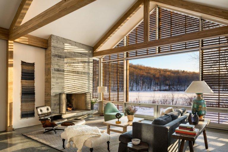 Prefabrikovaný prázdninový dům v Hudson Valley