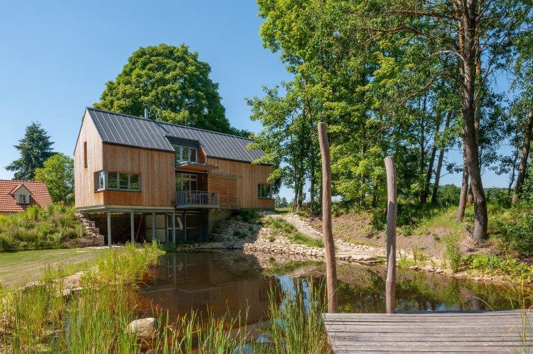 Rekreační dům s jezírkem v České Kanadě
