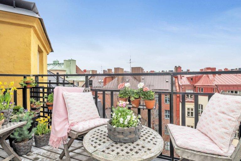 Skandinávské podkrovní bydlení