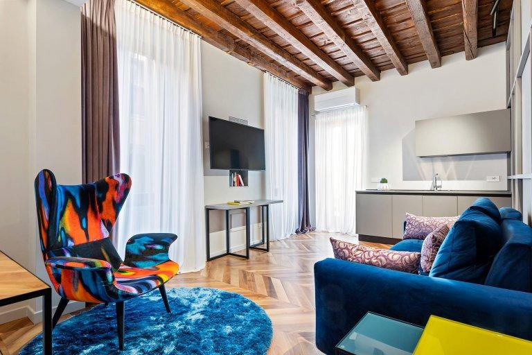 Výrazný byt eklektického stylu ve Veroně