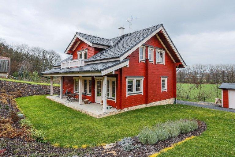 Finský srubový dům