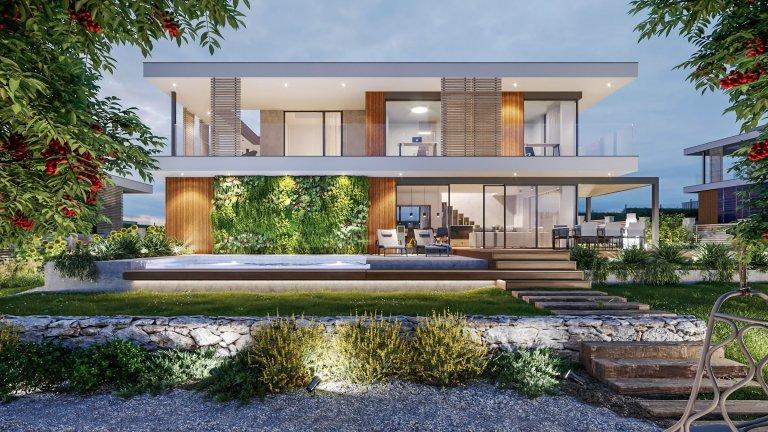 Luxusní domy v zeleni je prejektem, který je umístěnna slunném, jižně orientovaném, mírně svažitémúzemív jihovýchodní částiobce. …
