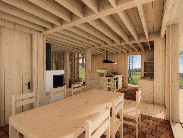 Návrh vznikl jako odpověď na otázku, jak bychom si představovali vlastní dům a život v něm. Zcela určitě jeden z našich nejtěžších projektů. Úvahy se vyvíjely…