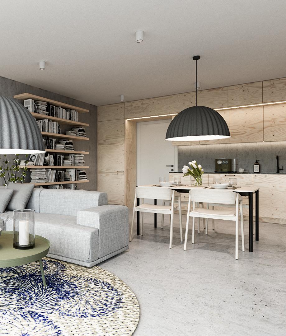 Využití překližky jako interiérového materiálu