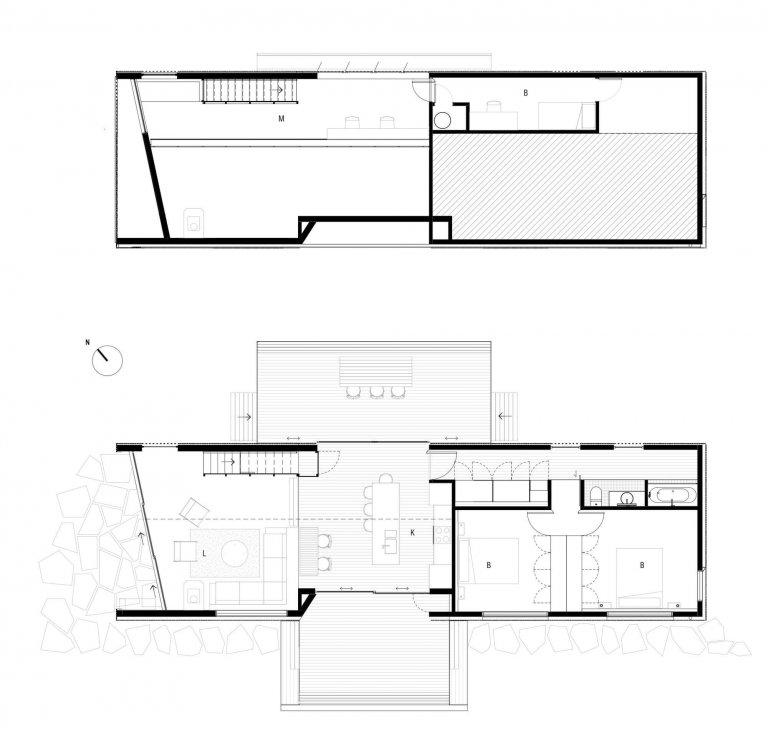 Dům na úzkém pozemku o šířce 13 metrů