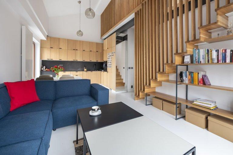 Jednoduchý interiér, bez zbytečných dekorativních tvarů