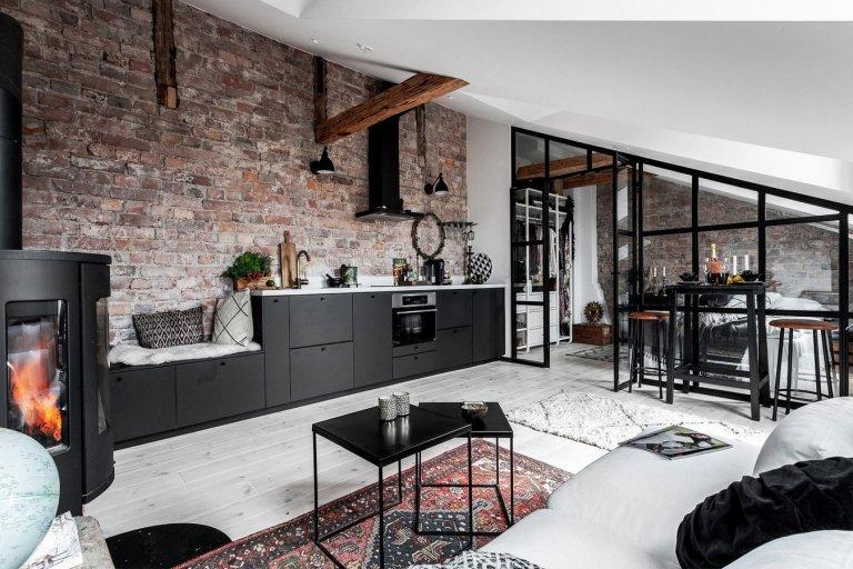 Malý podkrovní byt ve Stockholmu