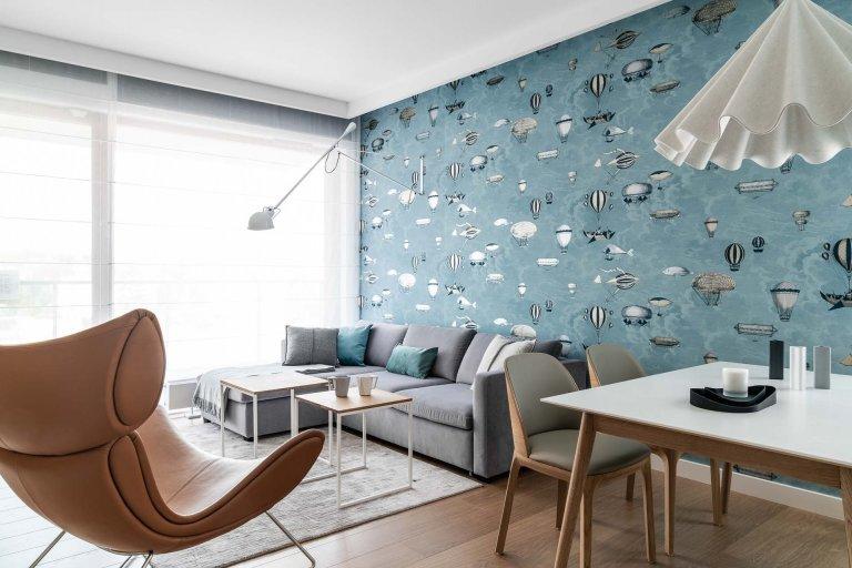 Moderní pojetí bytu v pastelových barvách