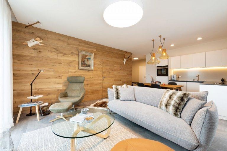 Apartmán ve Vysokých Tatrách s důrazem na přírodní materiály